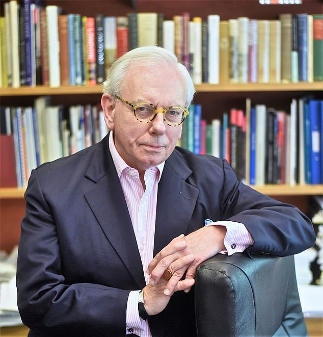 Grimes interviewed Prof David Starkey, pictured, who later apologised for the offence caused by his remarks on the YouTube channel