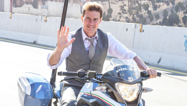 Tom Cruise, 58, Is Still Fearless As Ever During Motorcycle Stunt On New 'Mission: Impossible' Set