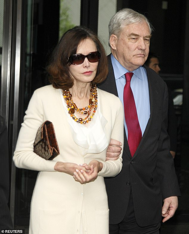Barbara with her husbandConrad Black, the proprietor of the Telegraph group, who was jailed in America on charges of fraud and obstruction of justice