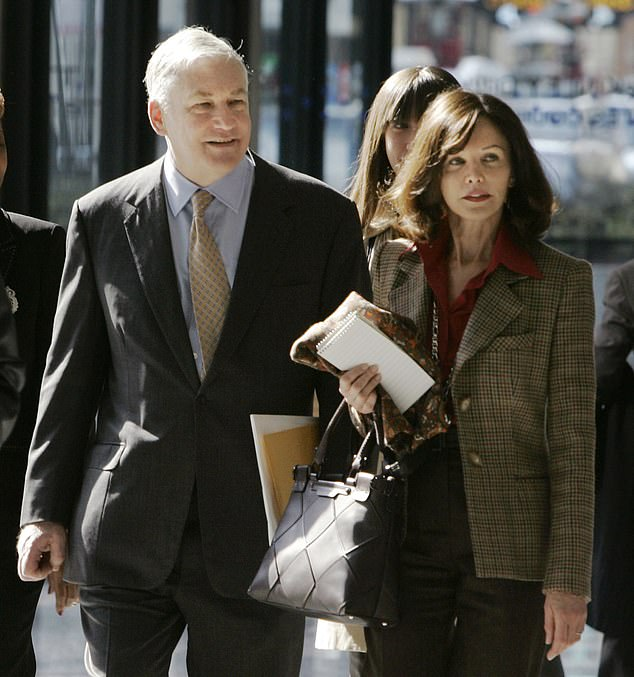 Conrad Black (left) was accused of misusing company funds to keep up the lifestyle that he and Barbara (right) had created