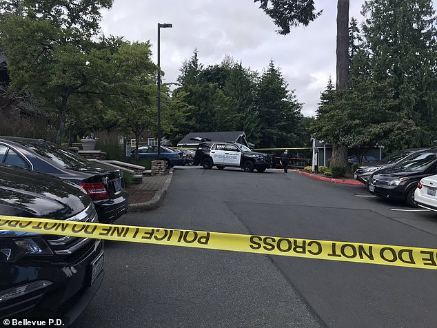 Li was shot as he was walking to his car at this apartment complex in Bellevue, Washington