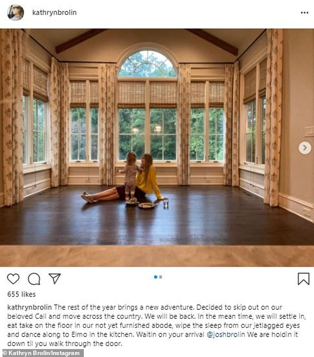 'Decided to skip out on our beloved Cali!' The Joe Biden supporter's personal assistant-turned-third wife Kathryn Boyd announced on August 22 that they had already started moving into their 1.5-acre property in the Georgia suburbs