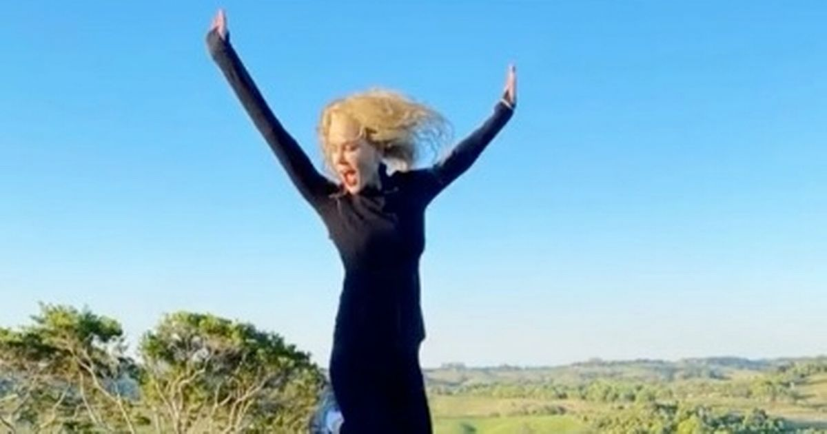 Nicole Kidman told by daughter Sunday, 12, to 'look less scared' on trampoline