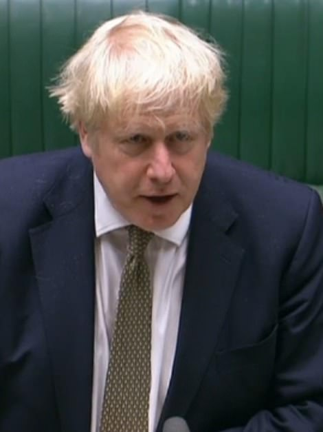 Boris Johnson (pictured in the Commons today) is facing fury as he finally unveils the government's new 'traffic light' coronavirus lockdown system