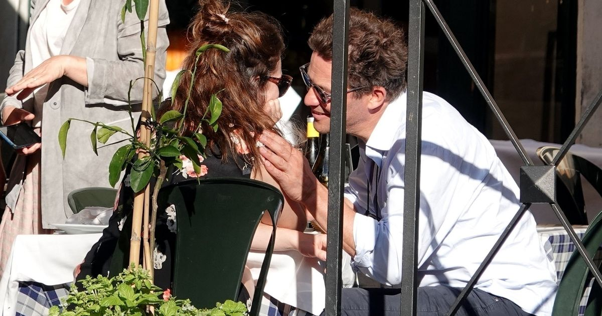 Dominic West pictured kissing Lily James as he insists marriage is still strong