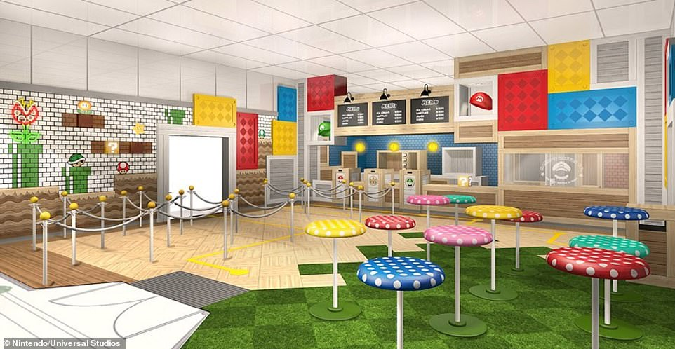 The restaurant will featuredishes and drinks inspired by the character Mario and his friends