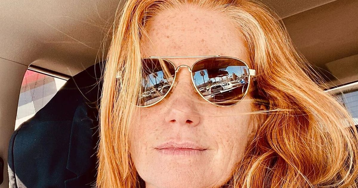 Patsy Palmer shows off grey hairs and 'old and wrinkled neck' that she 'loves'
