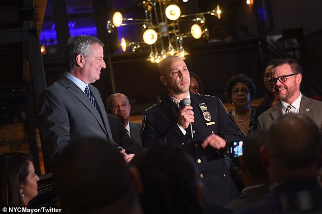 Pichardo, pictured with the mayor in January, endured weeks of ill-feeling from City Hall
