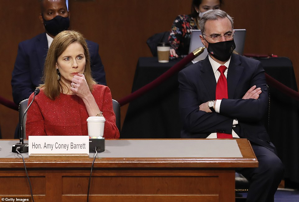 Questions on contentious issues: Amy Coney Barrett was asked about her positions on Roe v. Wade, same-sex marriage, the Affordable Care Act and whether she would recuse herself from ruling on cases relating to the upcoming election but declibe to spell out any position on them