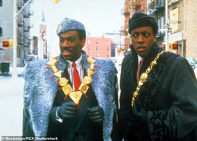 Akeem and Semmi:In the original film, Akeem (Murphy) and his aide Semmi (Arsenio Hall) get jobs at McDowell's so Murphy can try and get close to Cleo's daughter Lisa (Shari Headley)