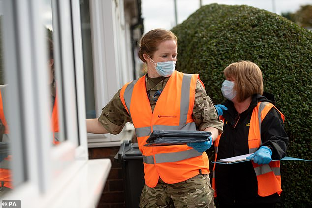 The kits were handed out as part of Birmingham City Council's 'drop and collect' service, which is aimed at increasing testing in areas with high rates of infection