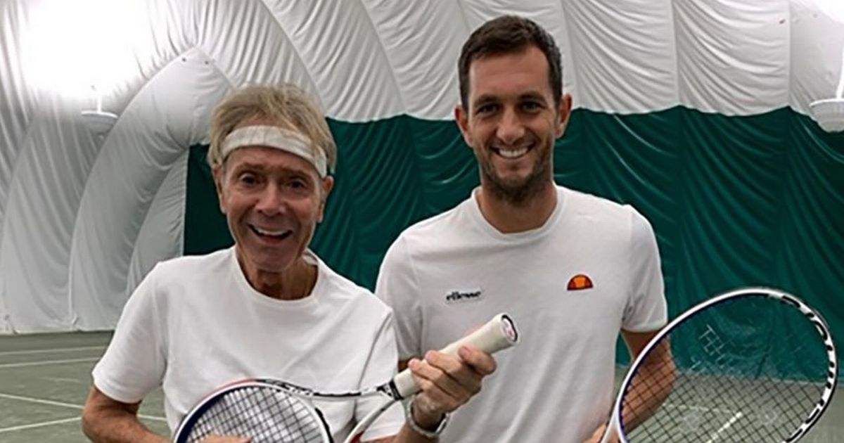 Sir Cliff Richard toasts to 80th birthday by playing tennis with Davis Cup champ