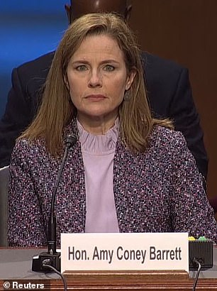 Supreme Court nominee Amy Coney Barrett pictured Wednesday