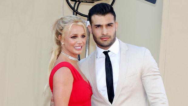 Britney Spears Stuns In Pink & Leopard Print Bikini As She Rides On BF Sam Asghari's Shoulders — Pic