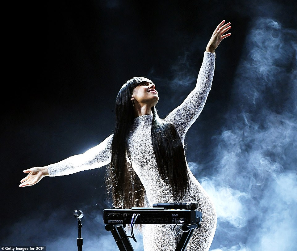 Powerful: Keys looked incredible on the smoky stage