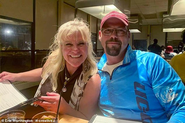 Colton (pictured with 45-year-old Julie) later said: 'We have a great relationship and family, and stuff happens - things don't go as planned all the time but we have a memory that will last a lifetime together'