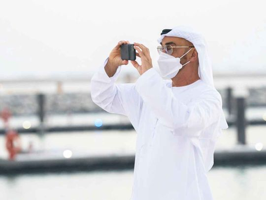 In Pictures: Sheikh Mohammed Bin Zayed tours Al Hudayriat Recreational Project set to open in November