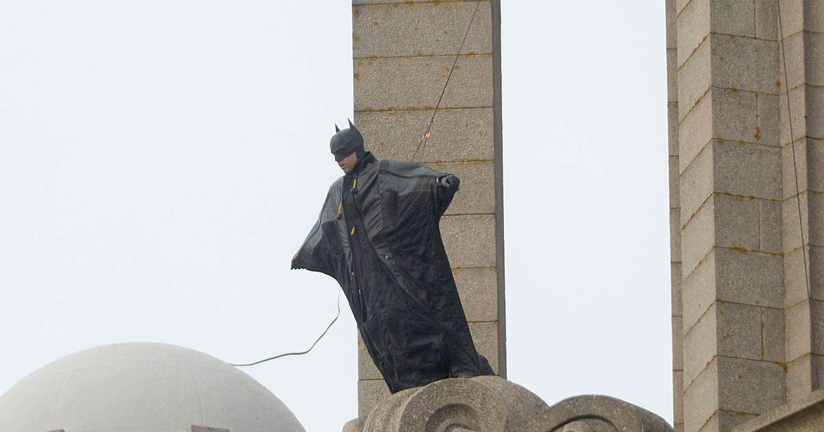Batman spotted atop Liverpool site as filming continues despite Tier 3 lockdown