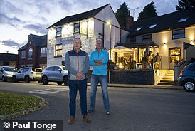 Co-owners of The Bell and Harp John Green (left) and Martin Archer. The Bell and Harpis now classed as Little Eaton after the boundary was moved. Little Eaton is in Erewash, and the pub pays its council tax to Erewash district council, so it will be affected by the new rules