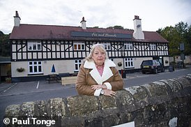 Tracie Tunnicliffe, owner of The Fox and Hounds, which is in Coxbench, Derbyshire. It falls under Amber Valley council area and is better off than a neighbouring pub - The Bell and Harp - which is just 400 yards away and used to be in Coxbench but is now classed as Little Eaton after the boundary was moved