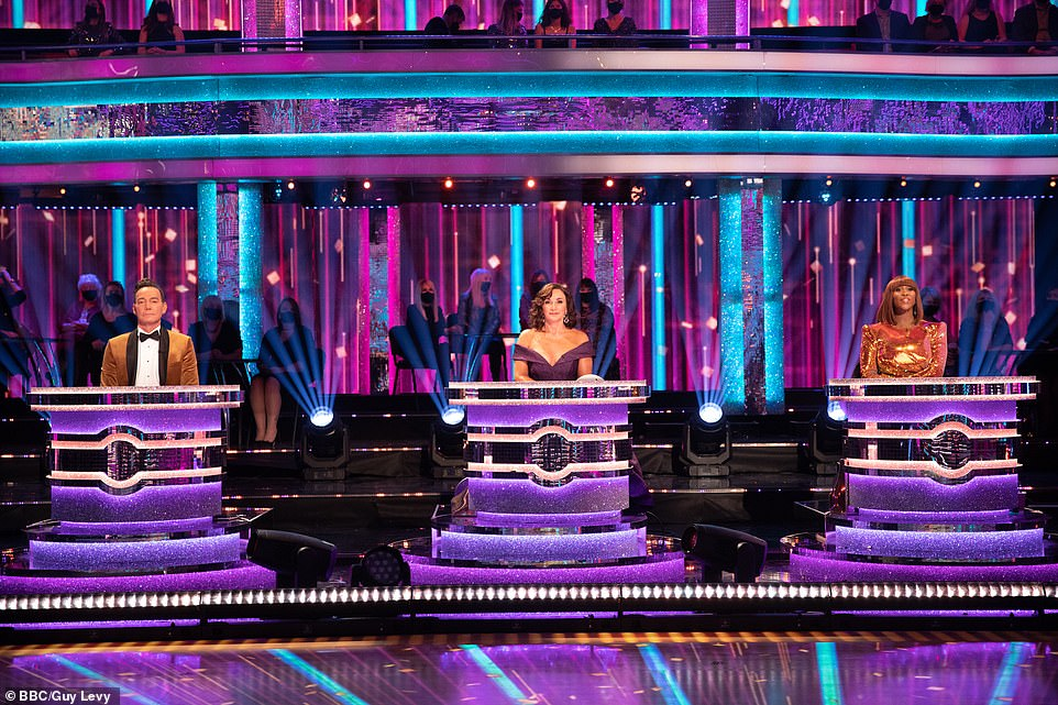Watchful eye:Judges Craig Revel-Horwood, Shirley Ballas and Motsi Mabuse will also take their place on the panel, though this year will see them sat on separate desks to maintain social distancing