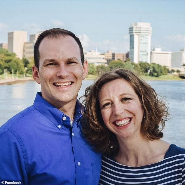 Whipple (left), pictured with his wife Chelsea (right), spearheaded the city's mask mandate this summer as cases skyrocketed
