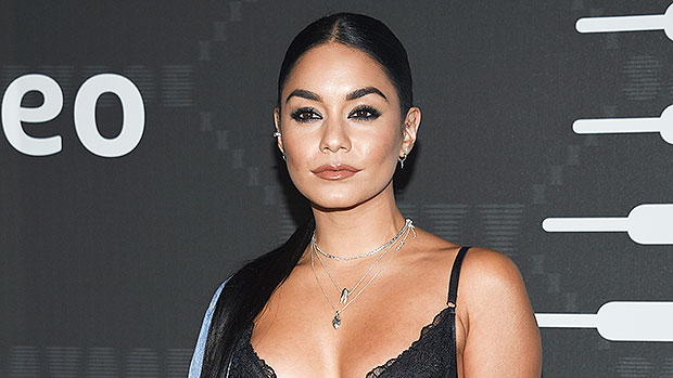 Vanessa Hudgens Does Squats, Weight Lifting & More During Intense Workout In Crop Top & Leggings