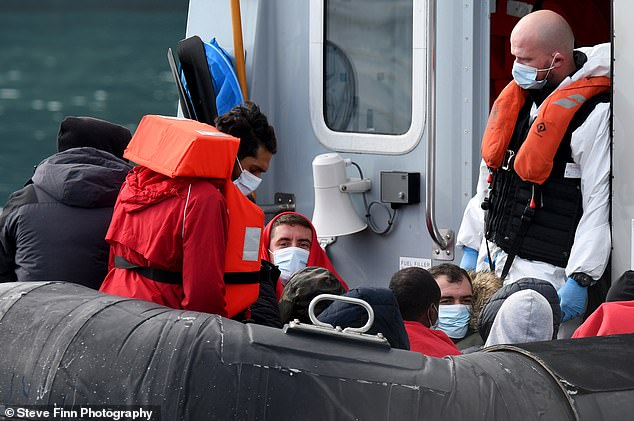 Saturday's numbers mean a record 7,370 migrants have so far reached UK shores in small boats compared to around 1,850 in 2019