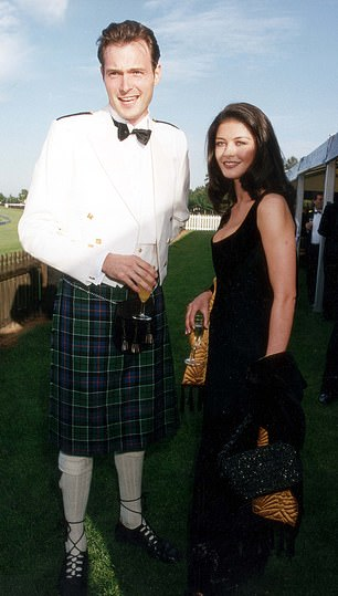 John Leslie is pictured above in 1993 with Catherine Zeta Jones