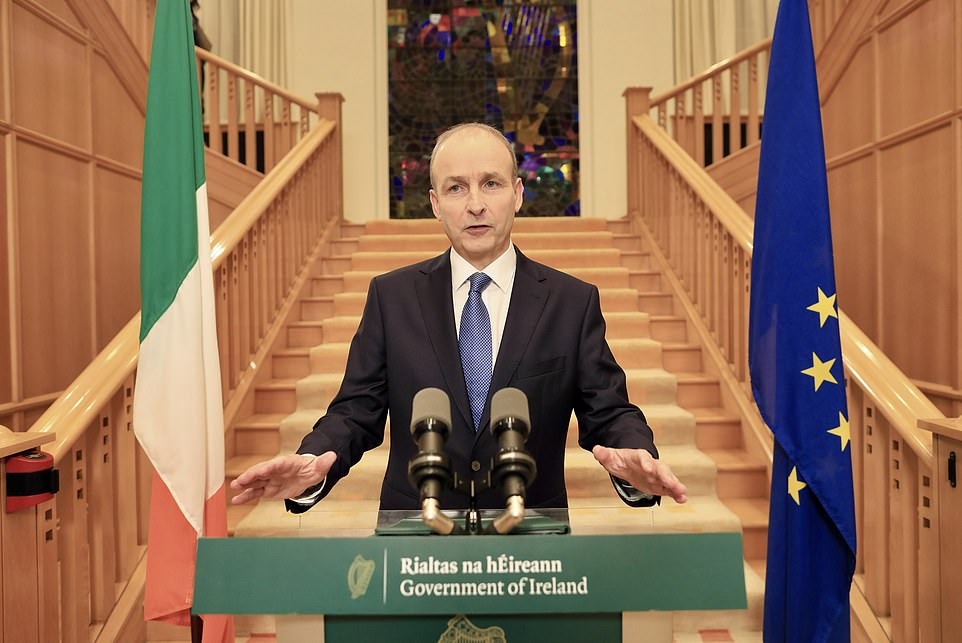 Ireland will be plunged into one of the strictest lockdowns in Europe for six weeks from midnight on Wednesday even though no Covid-19 deaths have been recorded yesterday.Taoiseach Mícheal Martin said the Government was introducing Level 5 restrictions because 'the evidence of a potentially grave situation arising in the weeks ahead was now too strong'