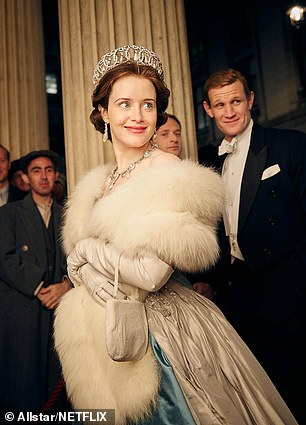 Claire Foy as the Queen in the Crown TV series