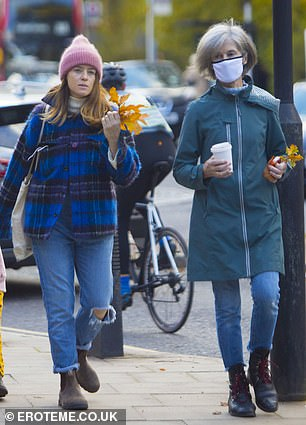 Claire Foy out with what appears to be her mum in Hampstead