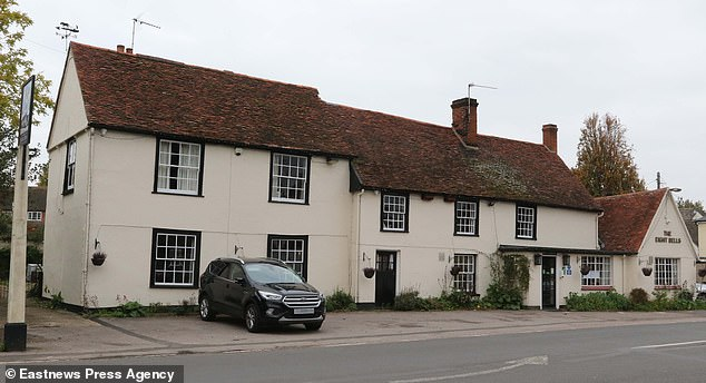 The Eight Bells pub on the Essex side of the village (pictured) is in an area under Tier 2 restrictions