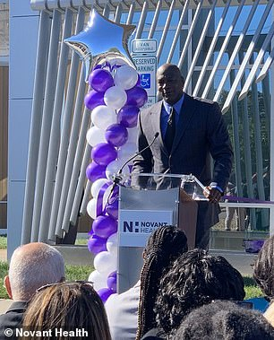 'This is a very emotional thing for me to be able to give back to a community that has supported me over the years,' Jordan said last year when opening the first center