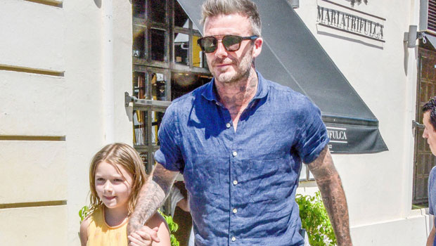 David Beckham Kisses Daughter Harper, 9, On The Lips In New Pic 1 Year After Facing Backlash For It