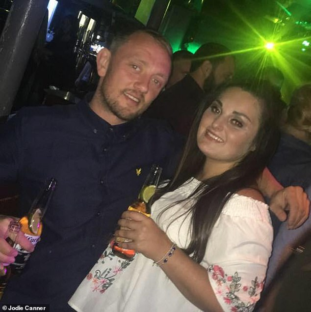Jodie said knowing her abuser is behind bars for night years is like having a weight lifted. Pictured: Jodie and Ryan
