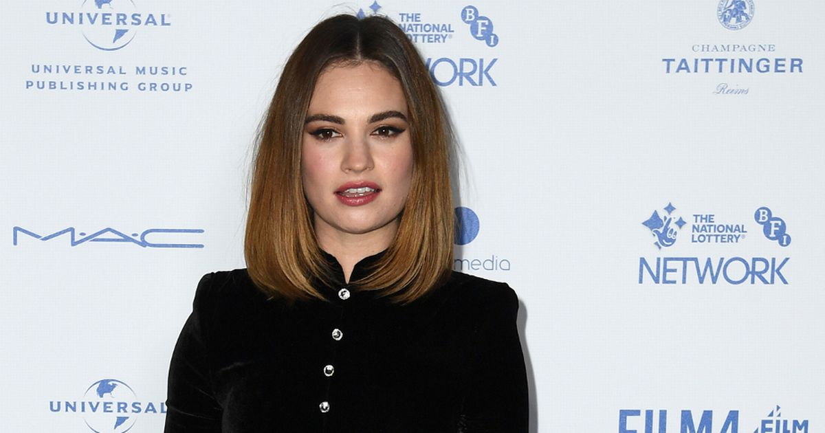 Lily James 'swerves another interview' after those Dominic West pictures