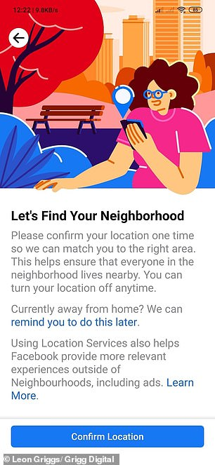 By turning on their location, Facebook users let Neighborhoods confirm their locale