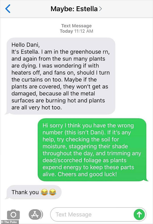 The Poke rounded up a selection of the funniest wrong number text exchanges that have gone viral on the internet, including one person who was asked for gardening advice