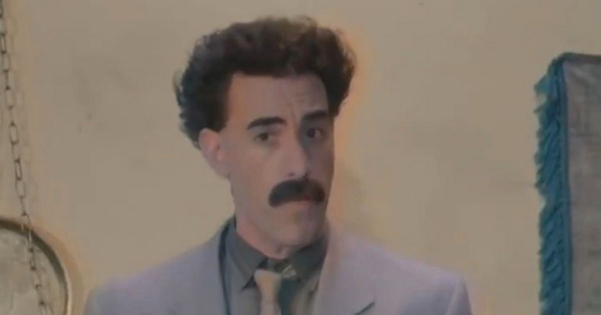 Borat defends Rudy Giuliani's 'innocent sexy time' following 'compromising' clip