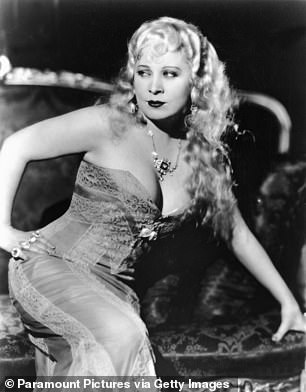 'I generally avoid temptation,' said actress Mae West, 'unless I can't resist it.' She is pictured on the set of 1933 movie She Done Him Wrong