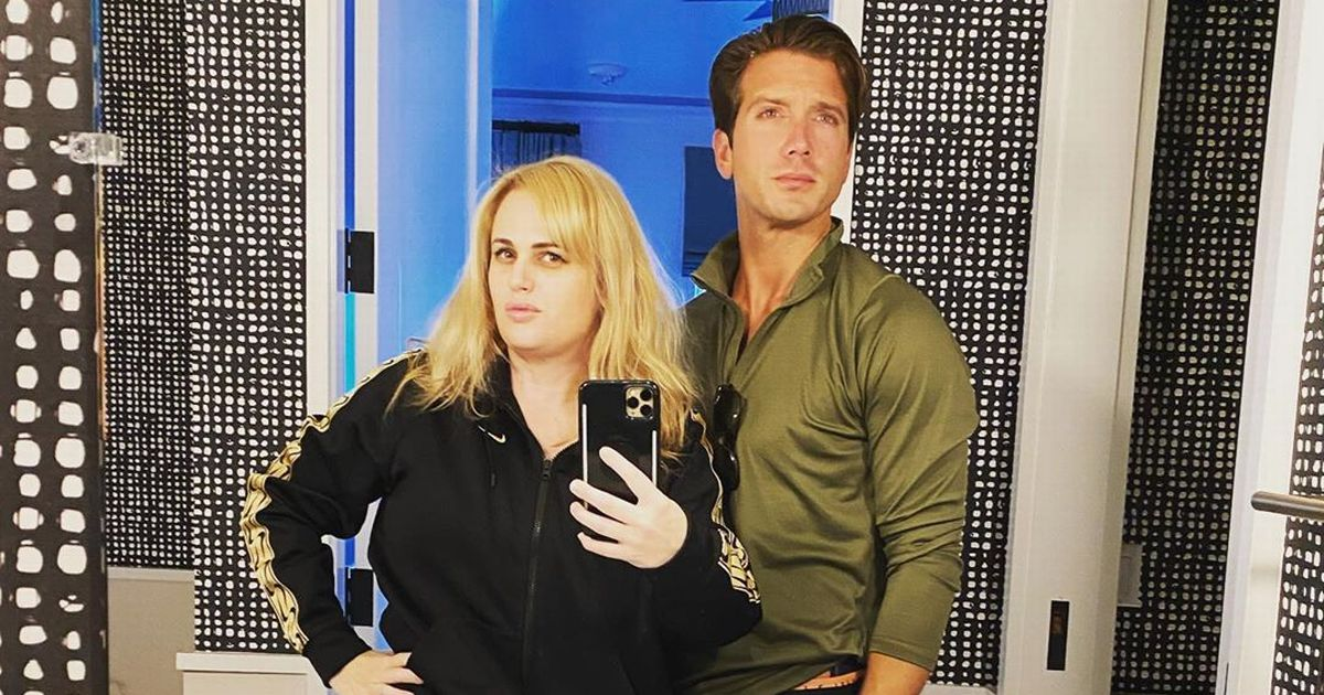 Rebel Wilson works up a sweat with her love Jacob Busch while exercising