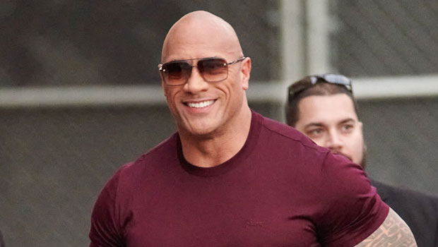 The Rock's Bulging Arm Muscles Look Bigger Than Ever As He Poses Before A Sunday Workout