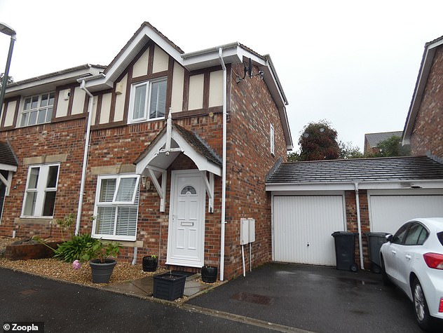 This three-bed semi-detached house in Paignton, Devon, is available to rent for £875 a month