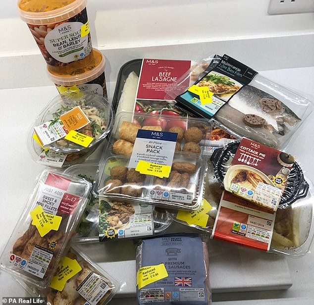 Liane began budget shopping during her teens by purchasing from charity shops. Pictured:A haul that only cost Liane £7.50 instead of £48.44