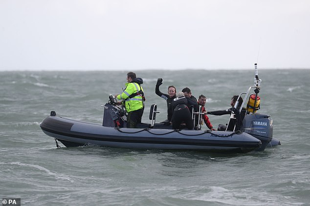 Having completed the stunt off Hayling Island, near Portsmouth, Mr Bream had set a new world record for the highest freefall into water from an aircraft and the record for jumping into British waters
