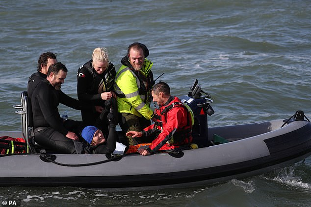 Help was on hand to pick Mr Bream, who shares his name with a fish, from the waters of the Solent earlier on today