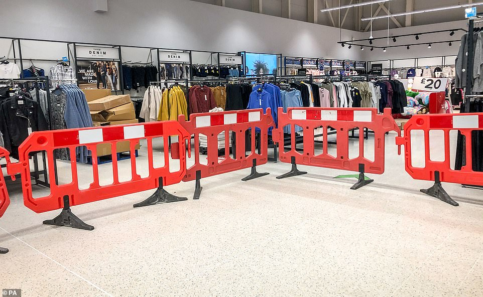Whole areas of supermarkets have been closed off in line with the restrictions imposed by Welsh ministers before Saturday