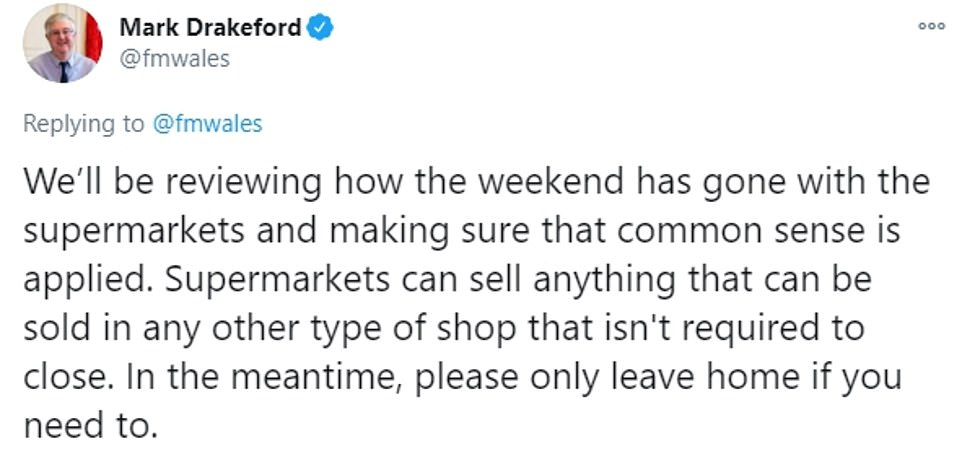 Labour leader Mr Drakeford has been facing criticism over the ban on non-essential sales during the 'firebreak' lockdown