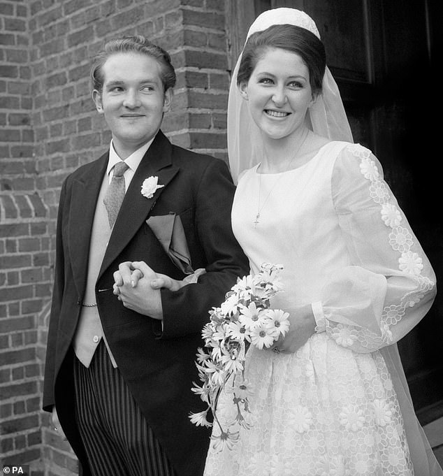 Jasper Duncombe isthe eldest son of the late Peter Duncombe, 6th Baron Feversham (pictured on his wedding day)